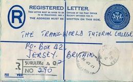 1976 , NIGERIA , SOBRE CERTIFICADO , SURULERE - JERSEY - Nigeria (1961-...)