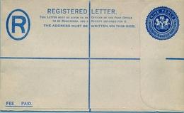 NIGERIA , SOBRE ENTERO POSTAL DE PAPEL ENTELADO PARA ENVIOS POR CORREO CERTIFICADO , NO CIRCULADO - Nigeria (1961-...)
