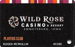 Wild Rose Casino Emmetsburg Iowa Player's Club Slot Card - Casino Cards