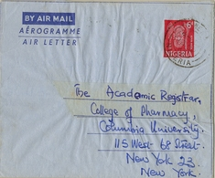 1962 NIGERIA , AEROGRAMA CIRCULADO , OKENE - NEW YORK - Nigeria (1961-...)