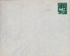 1962 NIGERIA , ENTERO POSTAL NO CIRCULADO , ARTESANIA , OYO CARVER , CRAFTMANSHIP - Nigeria (1961-...)