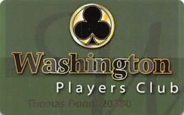 Washington Players Club Slot Card Used At Multiple Casinos In Washington State USA - Casino Cards
