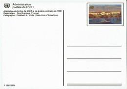 UN Genf - Ganzsache Postkarte Ungebraucht / Postcard Mint (c406) - Genf - Büro Der Vereinten Nationen