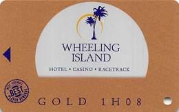 Wheeling Island Casino WV - BLANK 1H08 Gold Slot Card - Casino Cards