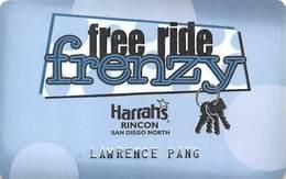 Rincon Casino Valley Center, CA - Free Ride Frenzy Special Slot Card - Casino Cards