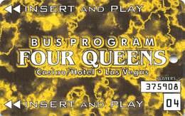 Four Queens Casino - Las Vegas, NV - Bus Card / Slot Card - Casino Cards