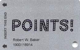 Points! Casino - Henderson NV - Slot Card - Casino Cards