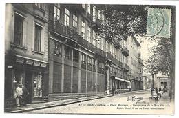 SAINT ETIENNE - Place Marengo, Perspective De La Rue D'Arcole - Marchand De Cartes - Saint Etienne