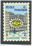 AUTOCOLLANT VIGNETTE ECOLE PUBLIQUE 1970 2 FRANCS ILLUSTRATION JEAN EFFEL FORMAT 8x12 DANS SA POCHETTE D'ORIGINE - Commemorative Labels