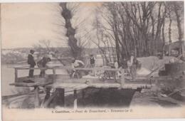 Bu - Belle Cpa CASTILLON (Gironde) - Pont De Tranchard - Travaux (n°1) - Andere Gemeenten