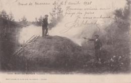 Bu - Cpa MONT DE MARSAN - Charbonnière En Feu - Mont De Marsan