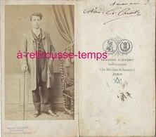 CDV Signé Et Dédicacé Aux époux DORLEANS Second Empire-jeune Homme élégant-photo Clément à Paris - Old (before 1900)