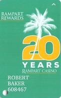 Rampart Casino - Las Vegas, NV - 20 Yeaar Anniversary Slot Card - Casino Cards