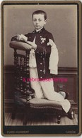 CDV- Communiant Agenouillé Sur Un Prie Dieu-chapelet Au Bras-photo Piard-Humbert à Luçon - Old (before 1900)