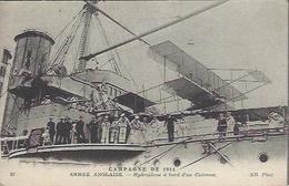 HYDROPLANE A BORD D UN CUIRASSE ARMEE ANGLAISE  GUERRE 1914 1918 - Guerra 1914-18