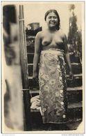 Indonesia, BALI, Native NUDE Girl, Batik Dress (1930s) RPPC Postcard - Indonesia