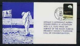 0858 Espace (space Raumfahrt) Lettre (cover Briefe) USA 20/7/1969 Apollo 11 Astronaut Aldrin Port Washington - FDC & Commemoratives
