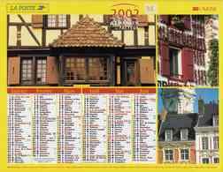 °° Calendrier Almanach La Poste 2002 Lavigne - Dépt 32 - Demeures De France - Kalenders