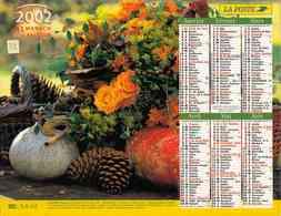 °° Calendrier Almanach La Poste 2002 Lavigne - Dépt 32 - Fleurs Et Fruits - Kalenders