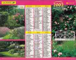 °° Calendrier Almanach La Poste 2002 Lavigne - Dépt 32 - Parcs Et Jardins Fleuris - Kalenders
