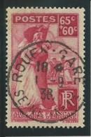 FRANCE: Obl., N° YT 401, Rose, TB - Usados