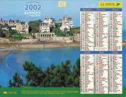 °° Calendrier Almanach La Poste 2002 Lavigne - Dépt 32 - Vues De Dinard Et De Belle Ile En Mer - Grand Format : 2001-...