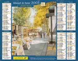 °° Calendrier Almanach La Poste 2003 Cartier Bresson - Dépt 32 - Aquarelles De Paris Et De Belle-Ile-en-Mer - Kalenders