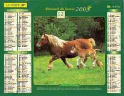 °° Calendrier Almanach La Poste 2003 Lavigne - Dépt 32 - Chevaux - Kalenders
