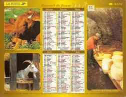 °° Calendrier Almanach La Poste 2003 Lavigne - Dépt 32 - Fromages Et Vendanges - Kalenders
