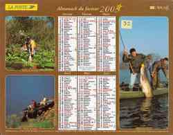 °° Calendrier Almanach La Poste 2003 Lavigne - Dépt 32 - Scènes De Pêche Et De Chasse - Kalenders