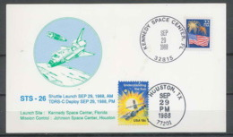 1777 Espace (space Raumfahrt) Lettre (cover Briefe) USA Discovery Shuttle (navette) Sts-26 Start Houston 29/9/1988 - Estados Unidos