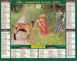 °° Calendrier Almanach La Poste 2003 Oller - Dépt 32 - Enfants Et Animaux - Kalenders