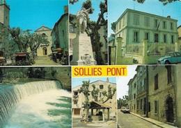 83 Solliès Pont Divers Aspects Avec Automobile Citroën 2CV  (2 Scans) - Sollies Pont