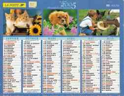 °° Calendrier Almanach La Poste 2005 Lavigne - Dépt 32 - Animaux Et Paysages Divers - Kalenders