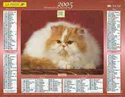 °° Calendrier Almanach La Poste 2005 Lavigne - Dépt 32 - Chats - Kalenders