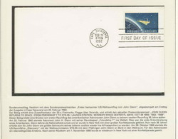 2052X Espace (space Raumfahrt) Lettre (cover Briefe) Usa 20/2/1962 John Glenn Fdc - United States