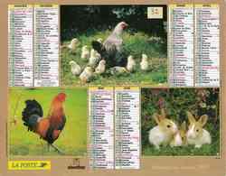 °° Calendrier Almanach La Poste 2005 Oberthur - Dépt 32 - Animaux De La Ferme - Kalenders