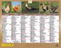 °° Calendrier Almanach La Poste 2005 Oberthur - Dépt 32 - Coqs - Kalenders