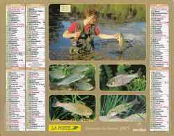 °° Calendrier Almanach La Poste 2005 Oberthur - Dépt 32 - Scènes De Pêche Et De Chasse - Kalenders
