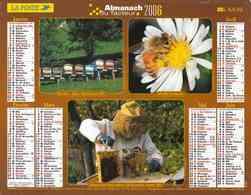 °° Calendrier Almanach La Poste 2006 Lavigne - Dépt 32 - Abeilles Et Châtaignes - Kalenders
