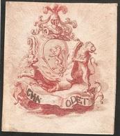 Ex-libris Charles ODET D'ORSONNENS. Fribourg. XVIIIe Siècle. - Ex Libris