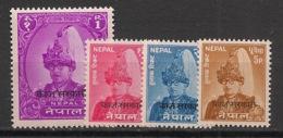 Nepal - 1961-62 - Service N° Yv. 12 à 15 - Complet - 4 Valeurs - Neuf Luxe ** / MNH / Postfrisch - Nepal