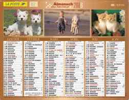 °° Calendrier Almanach La Poste 2006 Lavigne - Dépt 32 - Animaux Et Paysages Divers - Kalenders