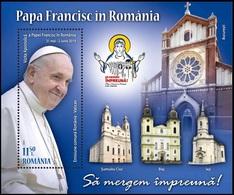 2019 - ROMANIA - VISITA DI PAPA FRANCESCO / VISIT OF POPE FRANCIS - EMISSIONE CONGIUNTA CON VATICANO / JOINT ISSUE. MNH. - Emissioni Congiunte
