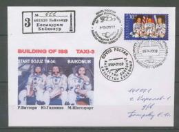 2656 Espace (space Raumfahrt) Lettre (cover Briefe) Kazakhstan (ka3akctah) Iss Taxi 3 Soyuz (soyouz Sojus)  25/4/2002 - FDC & Commemoratives