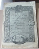 MONDOSORPRESA, (MT2) LA VOCE DEL PASTORE BOLLETTINO DELLA PARROCCHIA SAN GIACOMO, SALTO CANAVESE APRILE 1956 - Religion