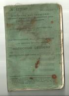 """4513""""AUTORIZZAZIONE ALLA CIRCOLAZIONE IN SERVIZIO PRIVATO PER MOTOCICLO LEGGERO-1959"""" ORIGINALE - Motorfietsen"""