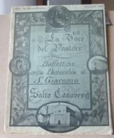 MONDOSORPRESA, (MT2) LA VOCE DEL PASTORE BOLLETTINO DELLA PARROCCHIA SAN GIACOMO, SALTO CANAVESE DICEMBRE 1956 - Religion