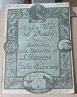 MONDOSORPRESA, (MT2) LA VOCE DEL PASTORE BOLLETTINO DELLA PARROCCHIA SAN GIACOMO, SALTO CANAVESE FEBBRAIO 1954 - Religion