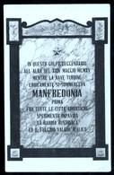 MANFREDONIA - FOGGIA - 1923 - LAPIDE COMMEMORATIVA BATTAGLIA NAVALE DEL 1915 - Manfredonia